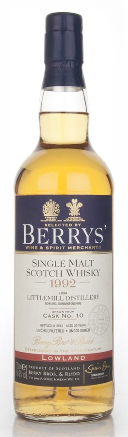 littlemill-20-year-old-1992-cask-10-berry-bros-and-rudd-whisky